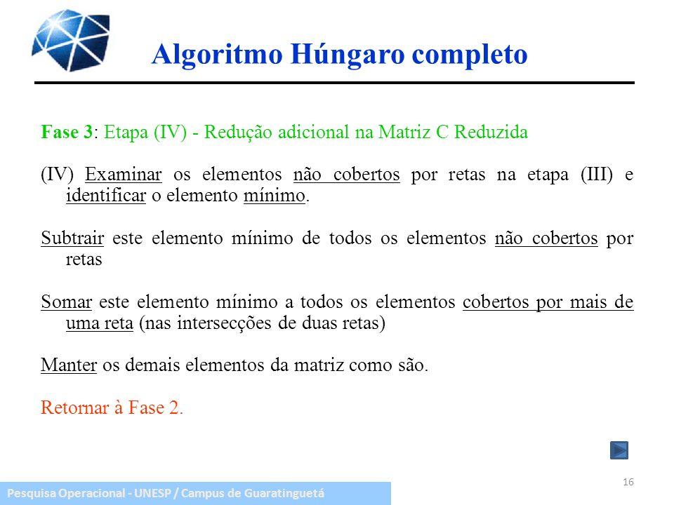 Algoritmo Húngaro completo
