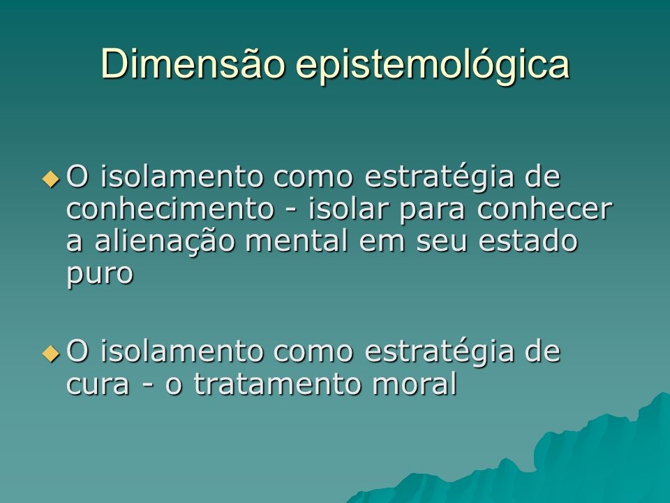 Dimensão epistemológica