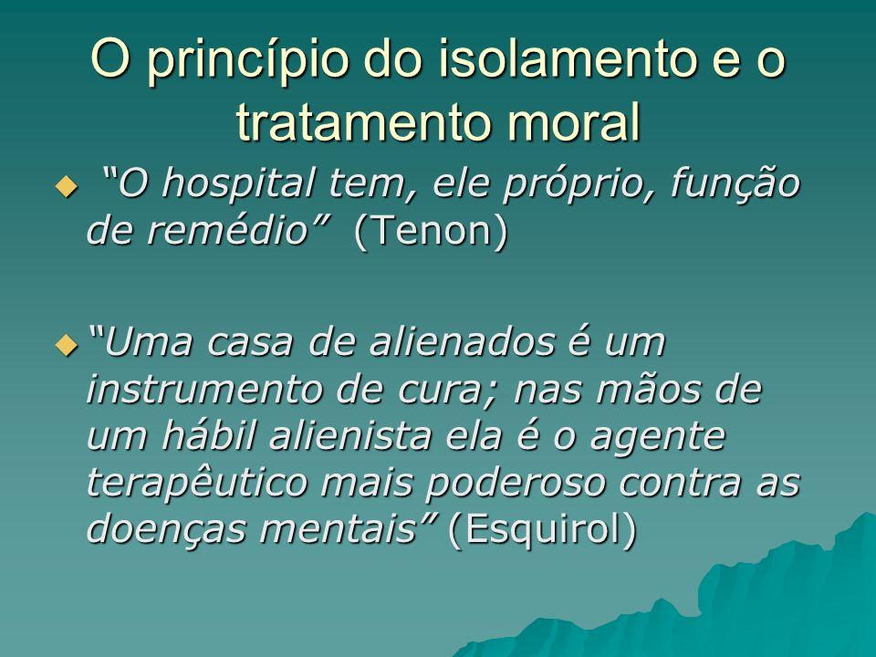 O princípio do isolamento e o tratamento moral