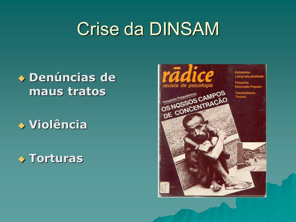 Crise da DINSAM Denúncias de maus tratos Violência Torturas