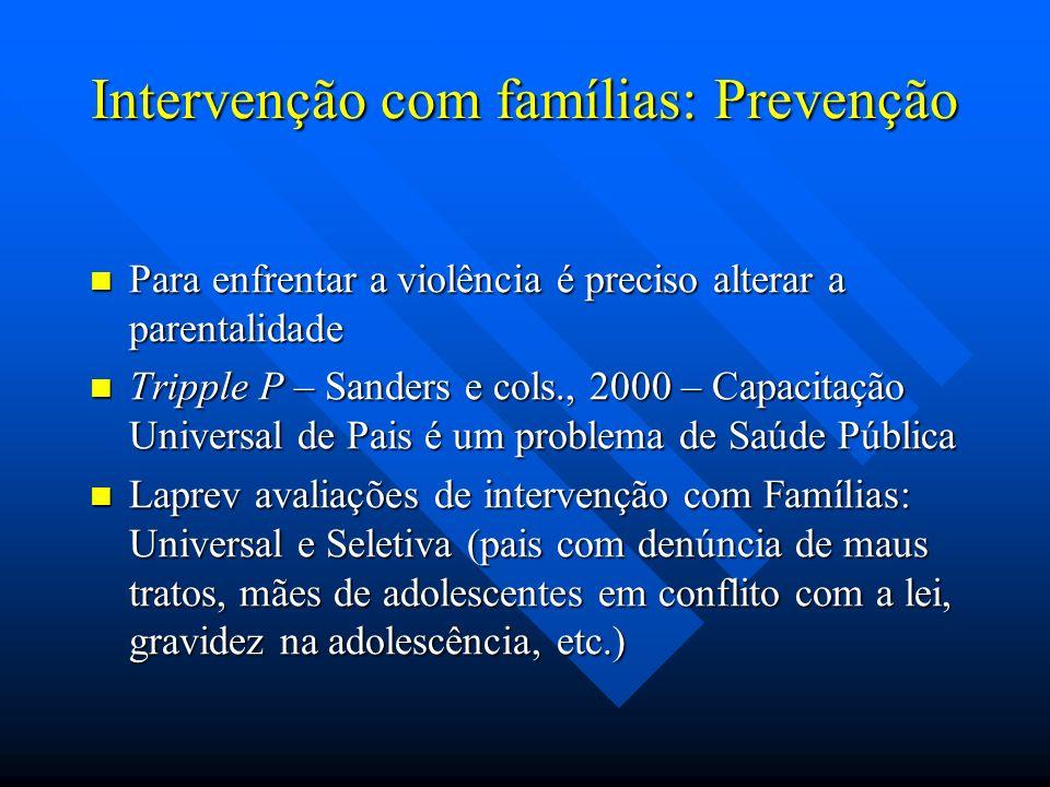 Intervenção com famílias: Prevenção
