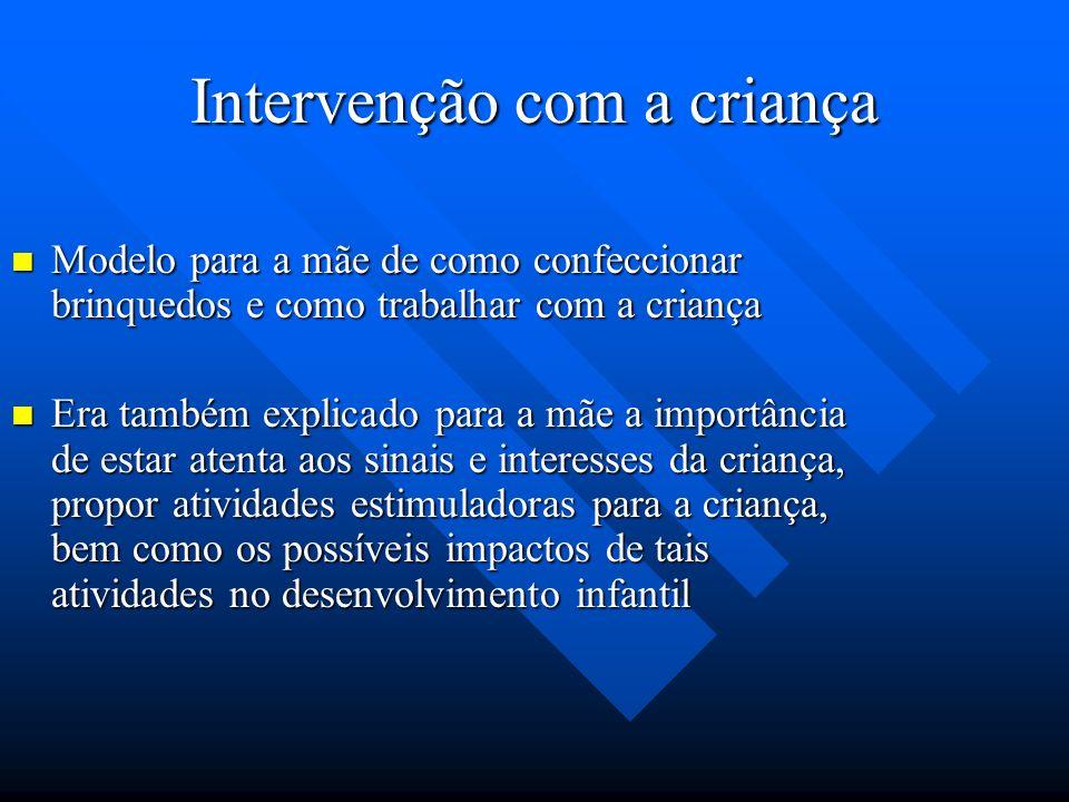 Intervenção com a criança