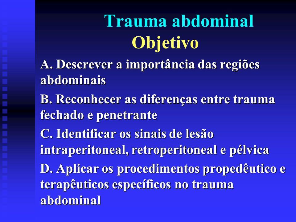 Trauma abdominal Objetivo