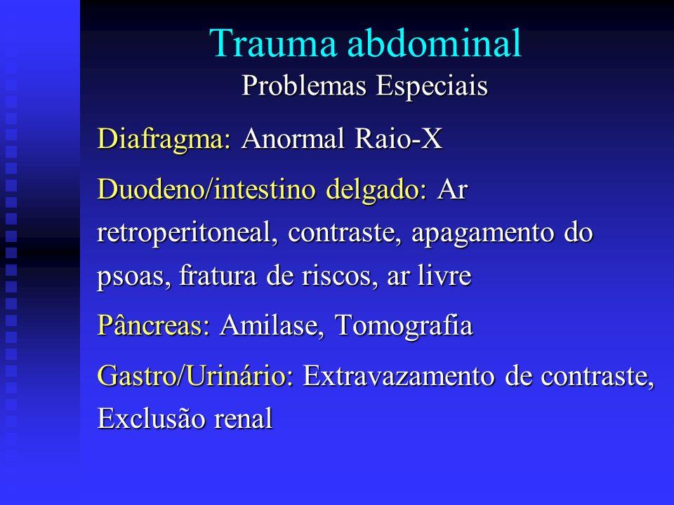 Trauma abdominal Problemas Especiais