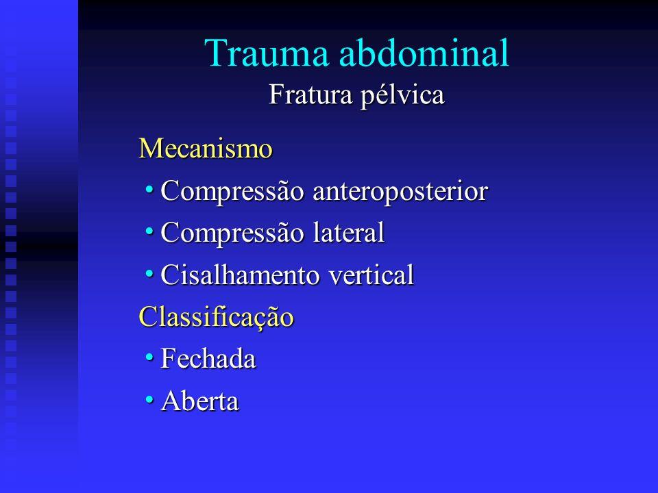 Trauma abdominal Fratura pélvica