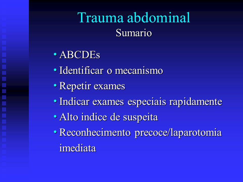 Trauma abdominal Sumario