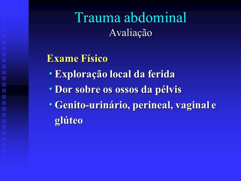 Trauma abdominal Avaliação