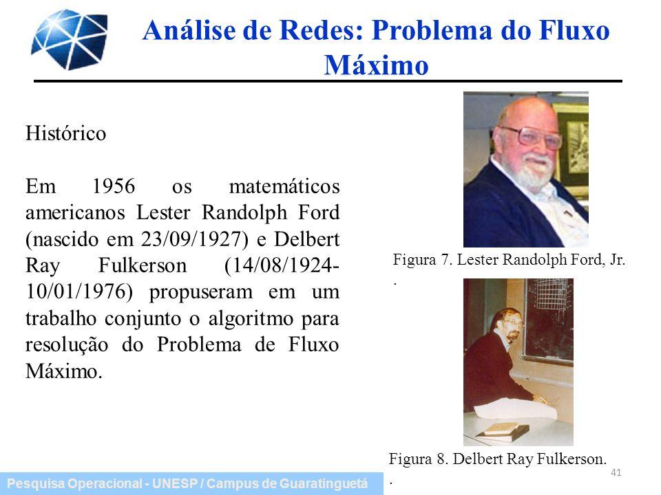 Análise de Redes: Problema do Fluxo Máximo