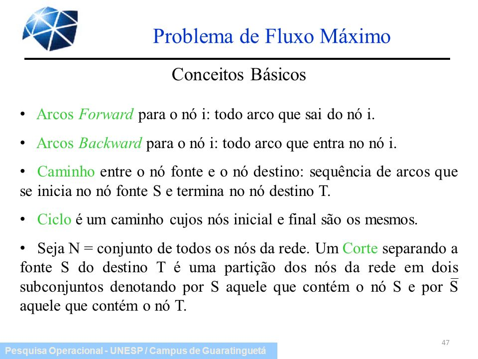 Problema de Fluxo Máximo