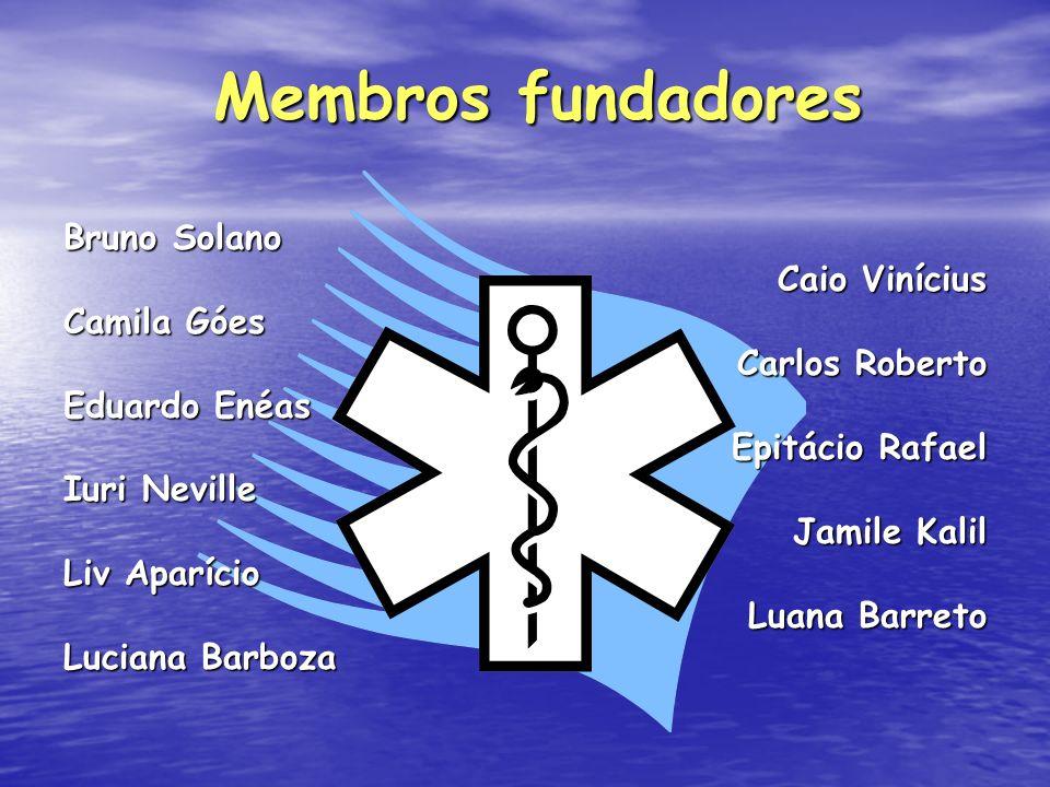 Membros fundadores Bruno Solano Caio Vinícius Camila Góes