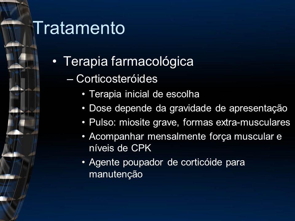 Tratamento Terapia farmacológica Corticosteróides