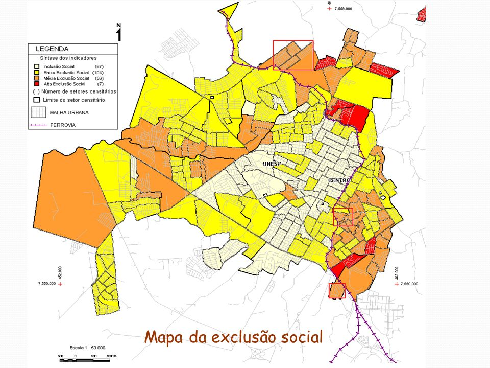 Mapa da exclusão social