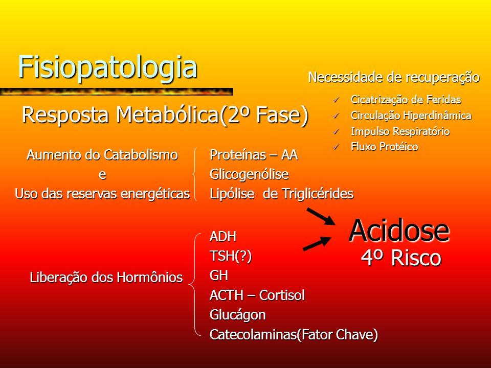 Fisiopatologia Acidose Resposta Metabólica(2º Fase) 4º Risco