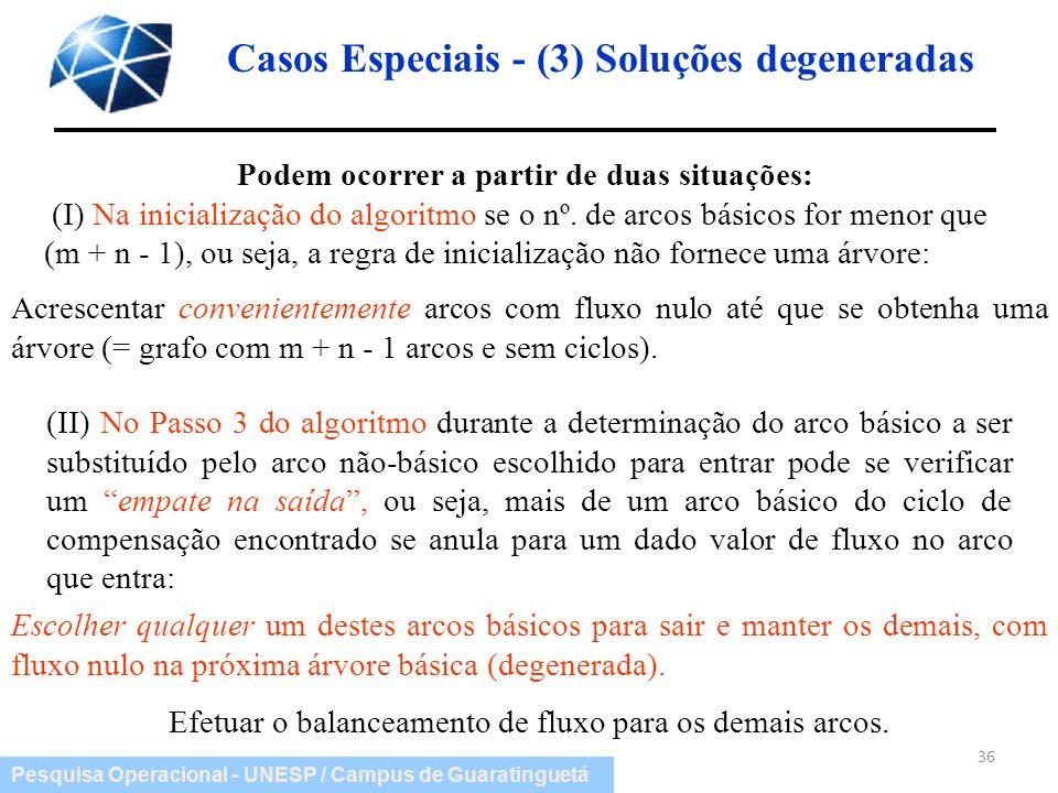Casos Especiais - (3) Soluções degeneradas