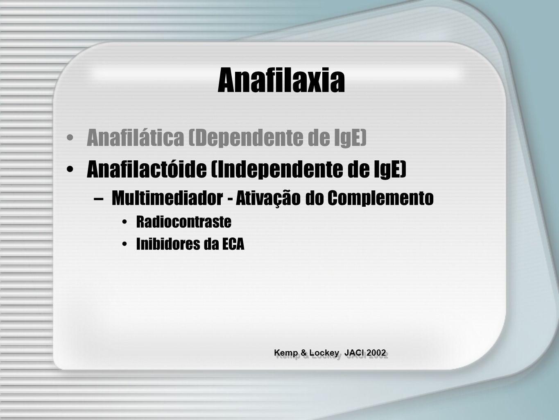 Anafilaxia Anafilática (Dependente de IgE)