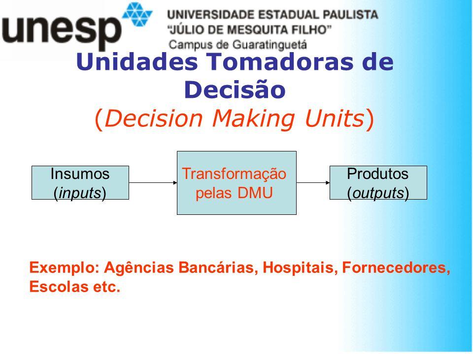 Unidades Tomadoras de Decisão (Decision Making Units)