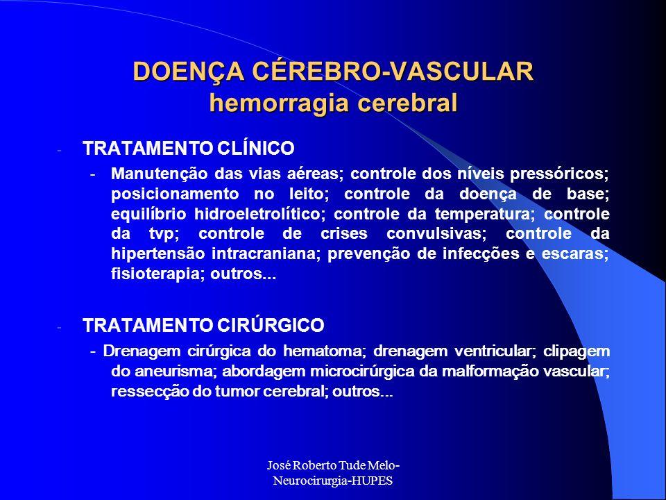 DOENÇA CÉREBRO-VASCULAR hemorragia cerebral