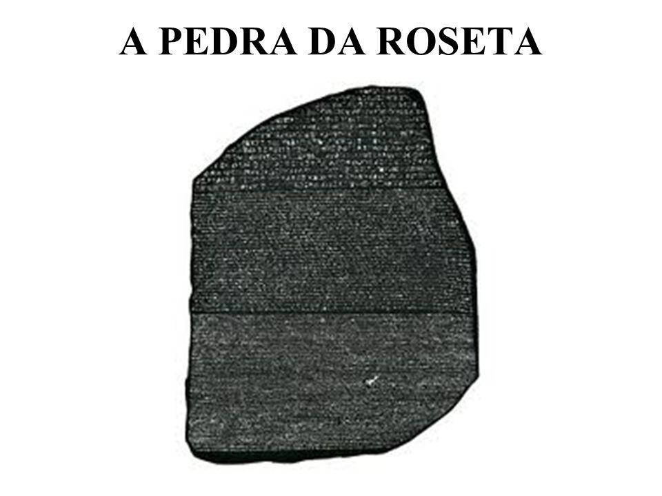 A PEDRA DA ROSETA