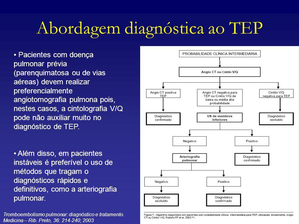 Abordagem diagnóstica ao TEP