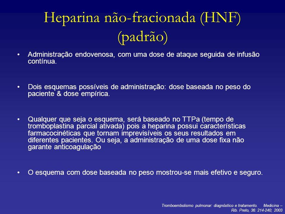 Heparina não-fracionada (HNF) (padrão)