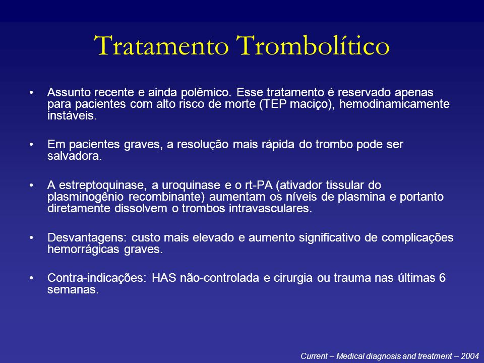 Tratamento Trombolítico