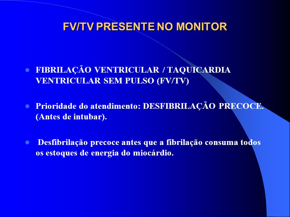 FV/TV PRESENTE NO MONITOR