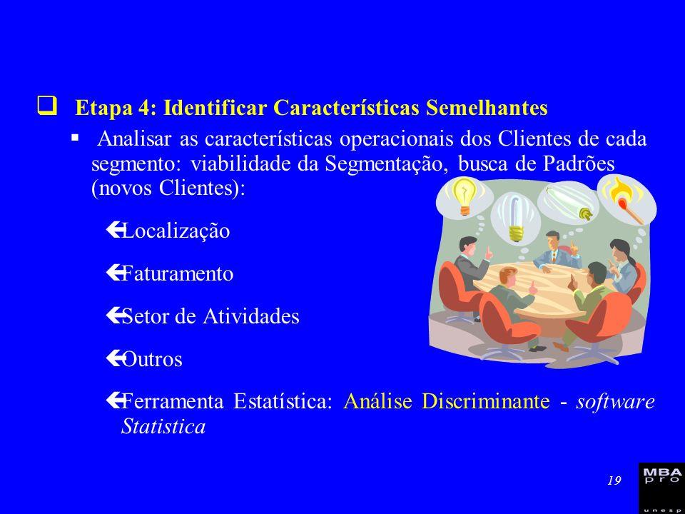 Etapa 4: Identificar Características Semelhantes