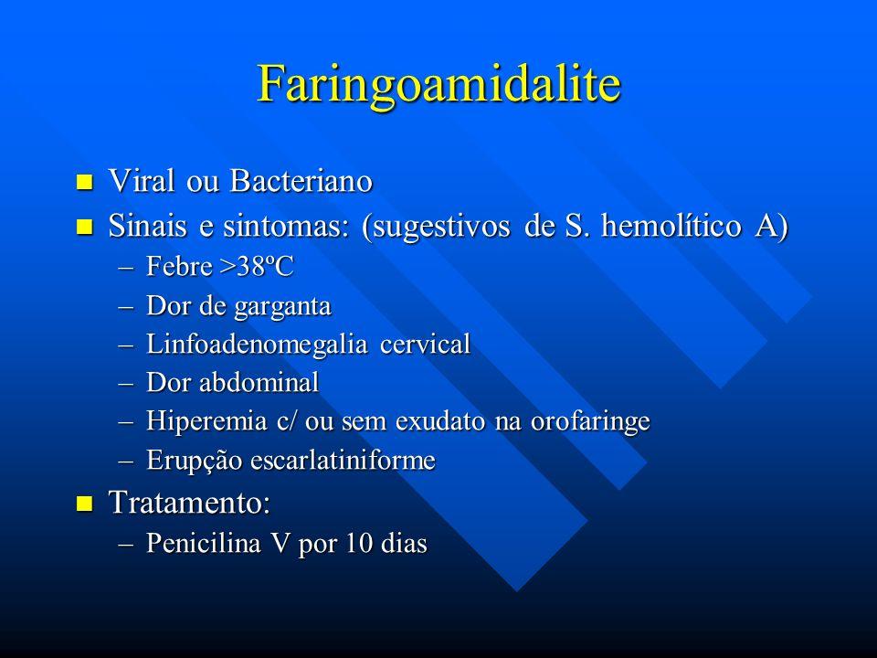 Faringoamidalite Viral ou Bacteriano