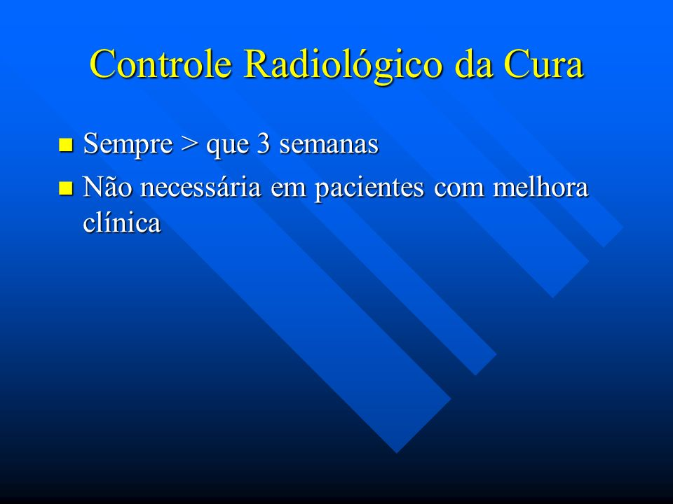 Controle Radiológico da Cura