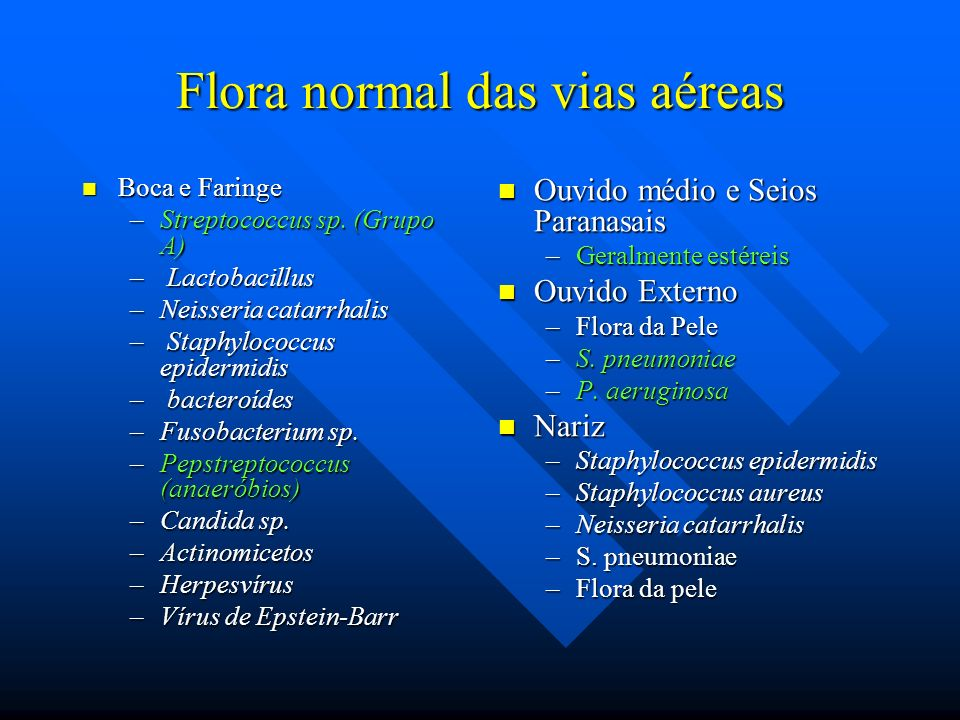 Flora normal das vias aéreas