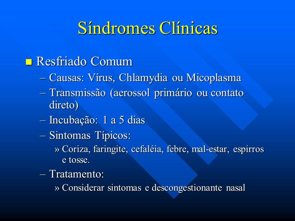 Síndromes Clínicas Resfriado Comum