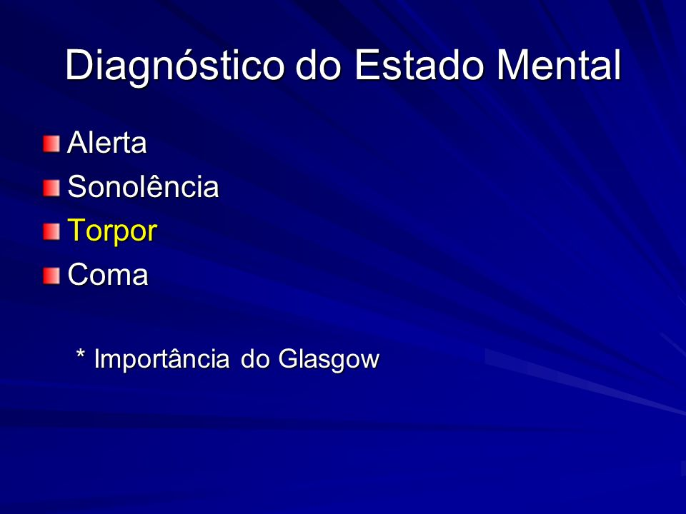 Diagnóstico do Estado Mental