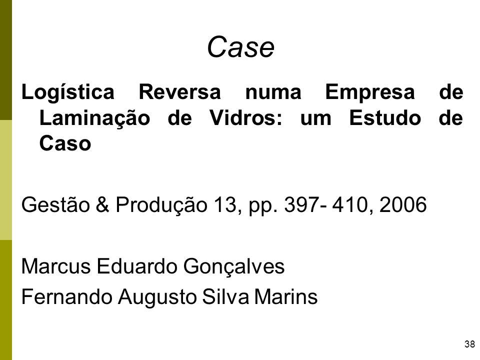 Case Logística Reversa numa Empresa de Laminação de Vidros: um Estudo de Caso. Gestão & Produção 13, pp. 397- 410, 2006.