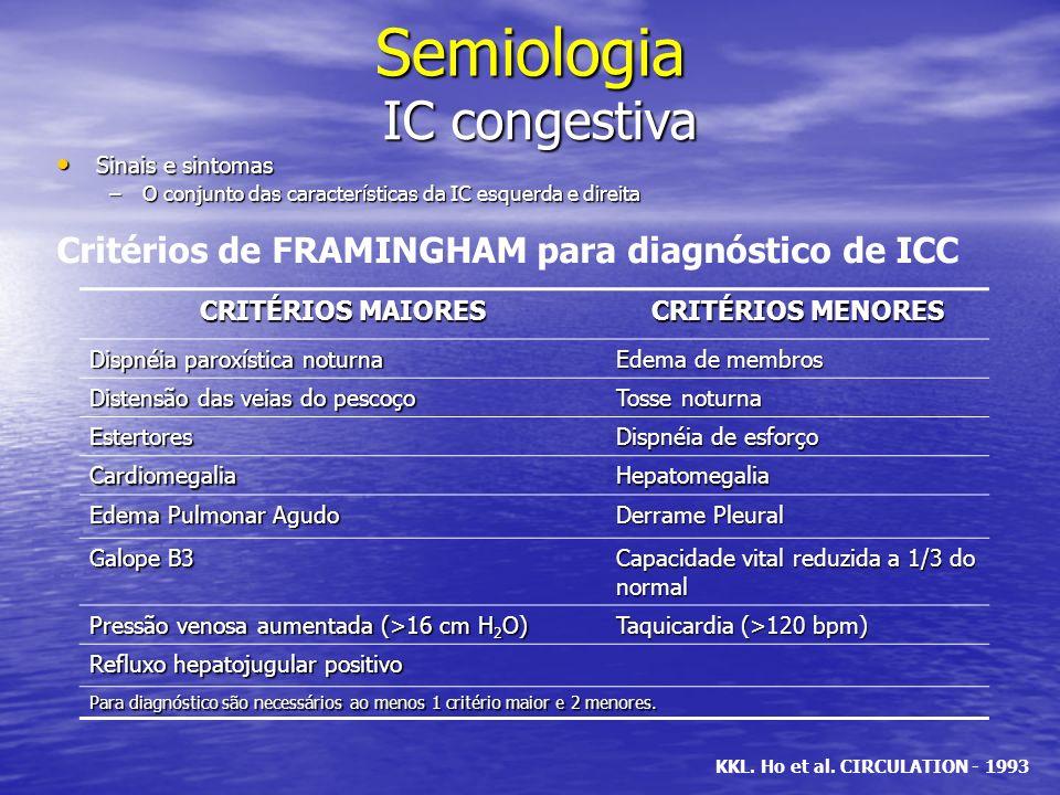 Semiologia IC congestiva