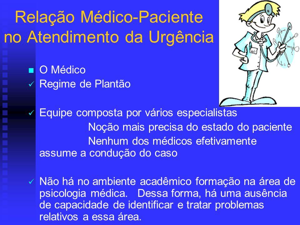 Relação Médico-Paciente no Atendimento da Urgência
