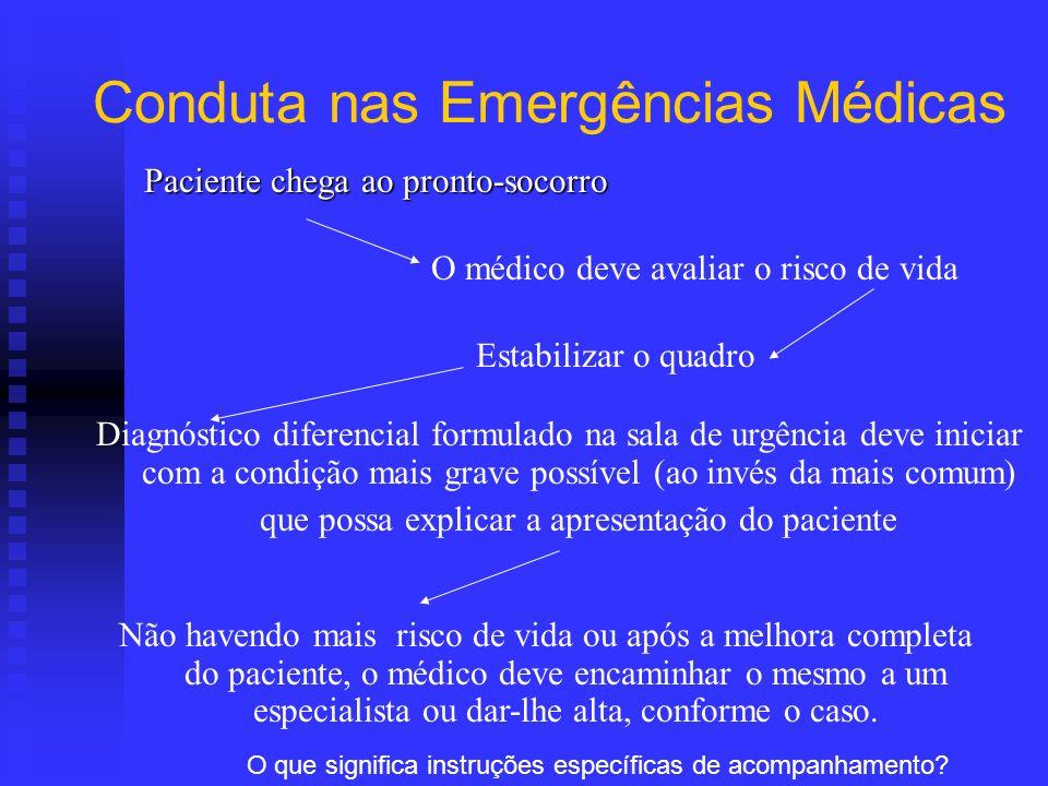 Conduta nas Emergências Médicas