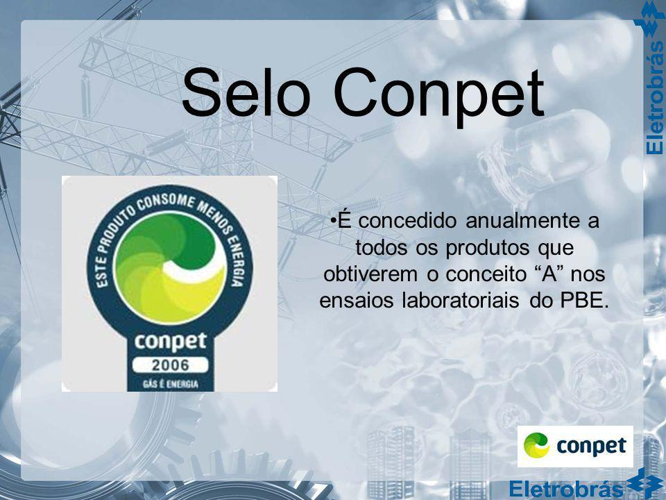 Selo ConpetÉ concedido anualmente a todos os produtos que obtiverem o conceito A nos ensaios laboratoriais do PBE.