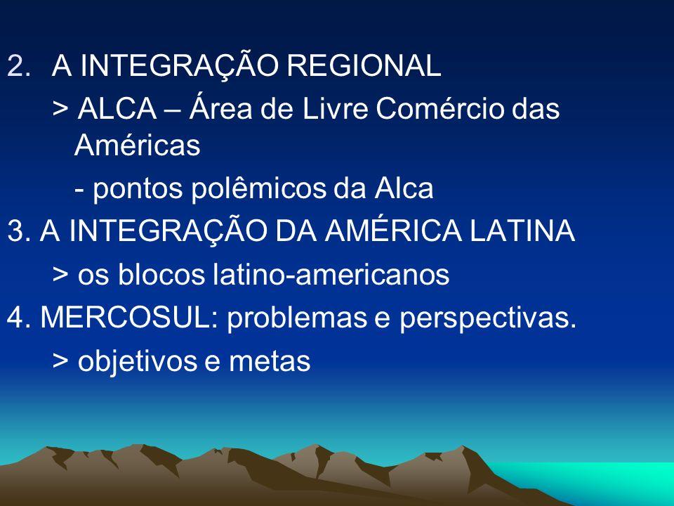 > ALCA – Área de Livre Comércio das Américas