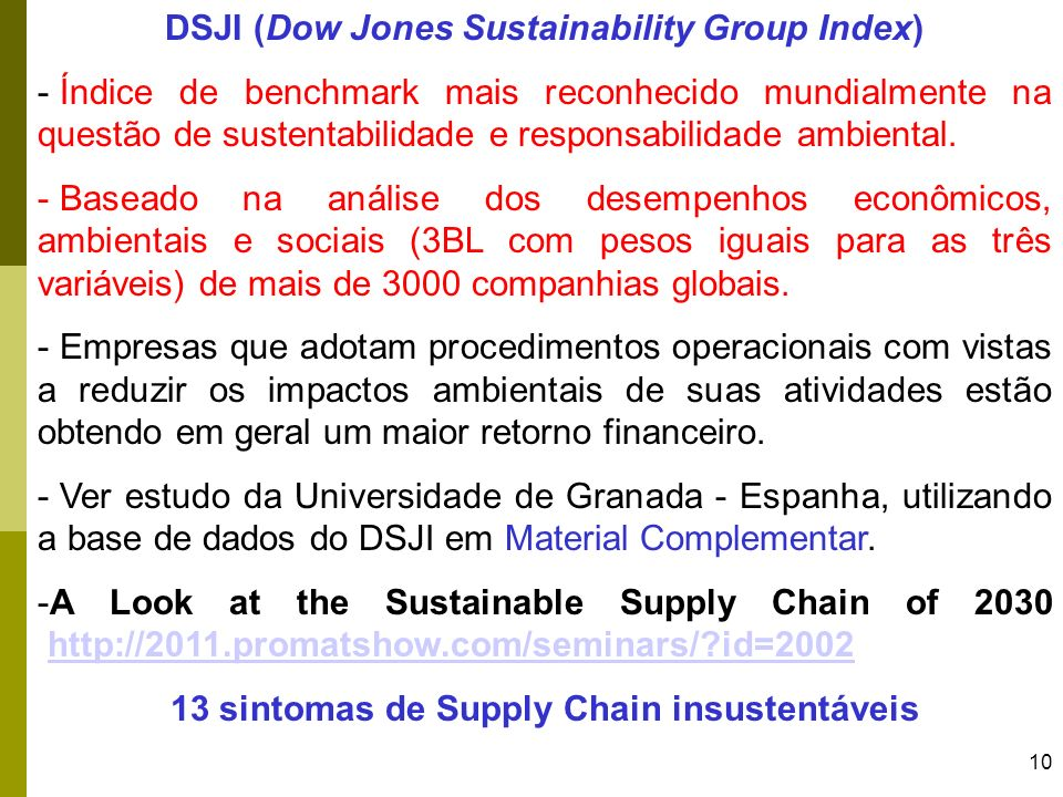 DSJI (Dow Jones Sustainability Group Index)