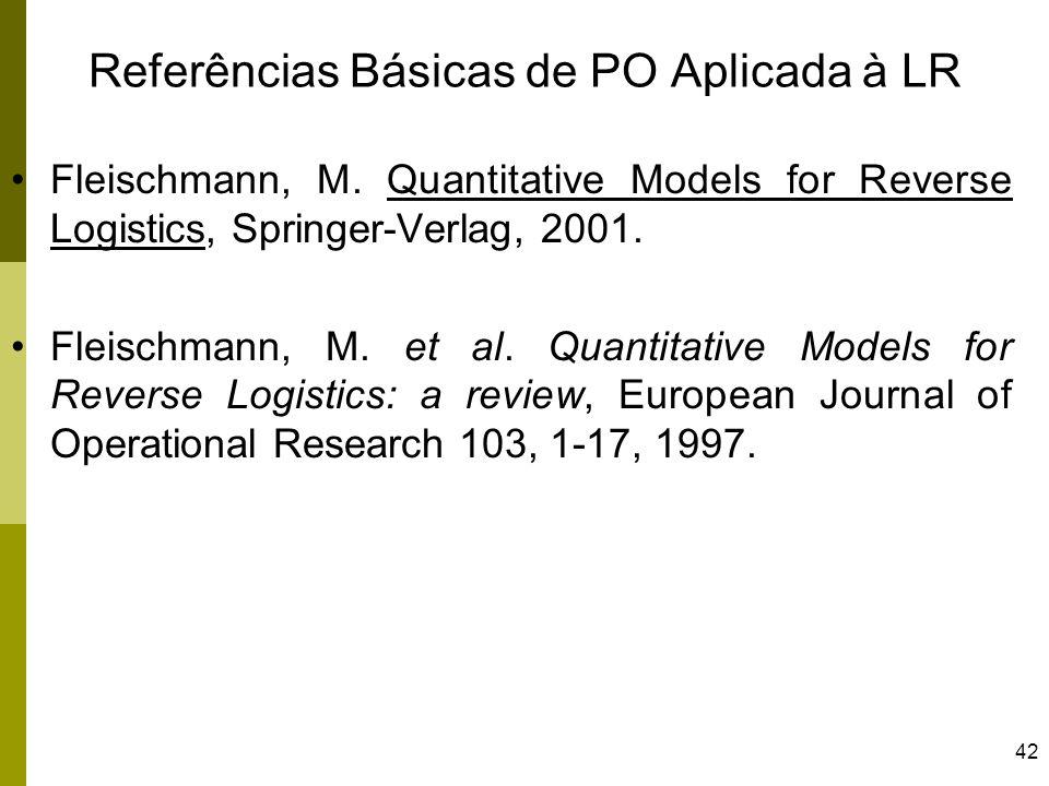 Referências Básicas de PO Aplicada à LR