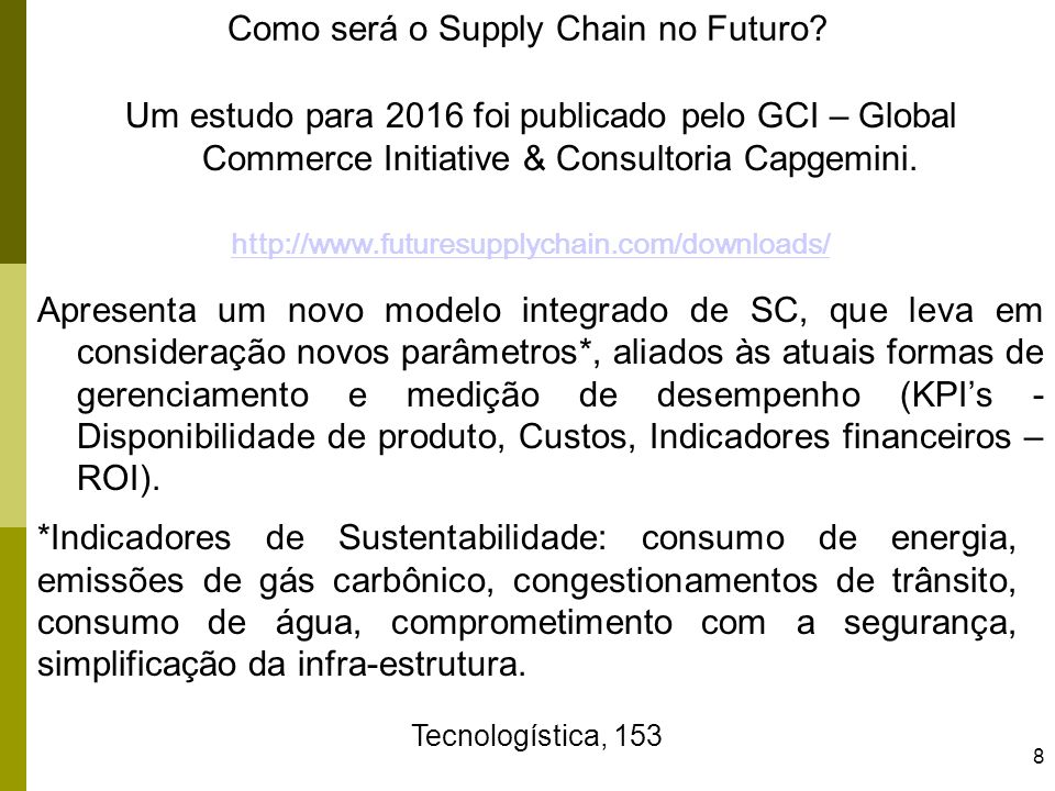 Como será o Supply Chain no Futuro