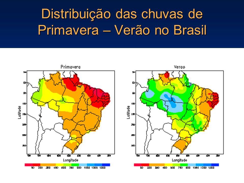 Distribuição das chuvas de Primavera – Verão no Brasil