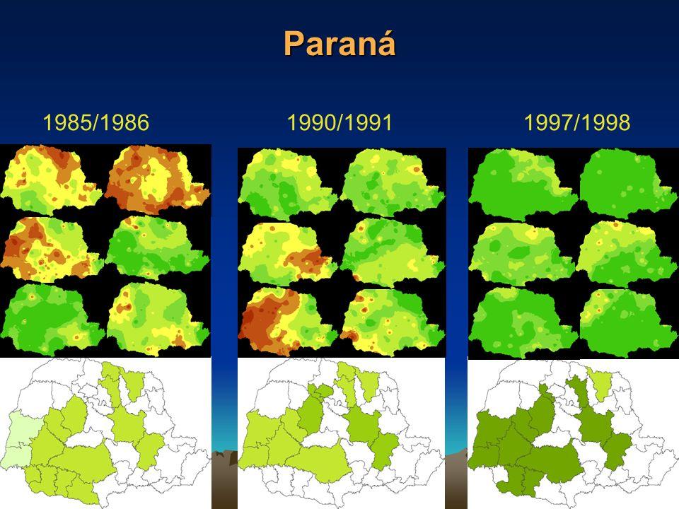 Paraná 1985/1986 1990/1991 1997/1998