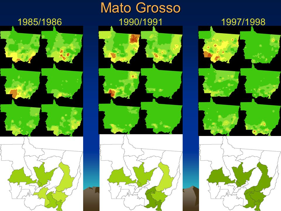 Mato Grosso 1985/1986 1990/1991 1997/1998