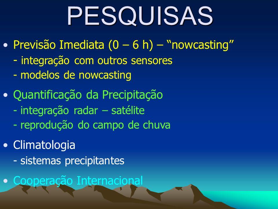 PESQUISAS Previsão Imediata (0 – 6 h) – nowcasting