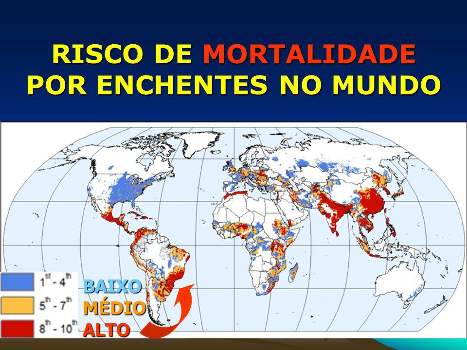 RISCO DE MORTALIDADE POR ENCHENTES NO MUNDO