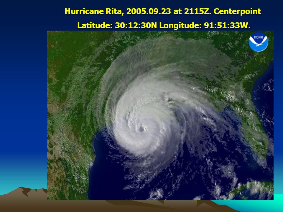 Hurricane Rita, 2005.09.23 at 2115Z. Centerpoint