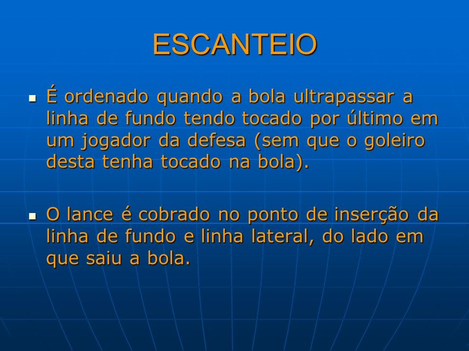 ESCANTEIO