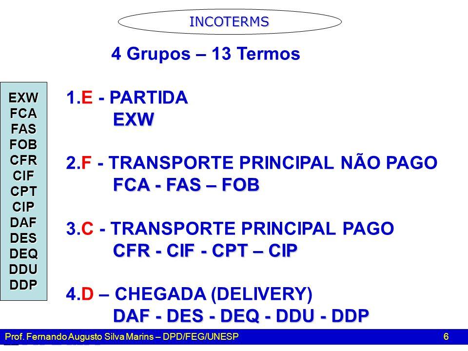 2.F - TRANSPORTE PRINCIPAL NÃO PAGO FCA - FAS – FOB