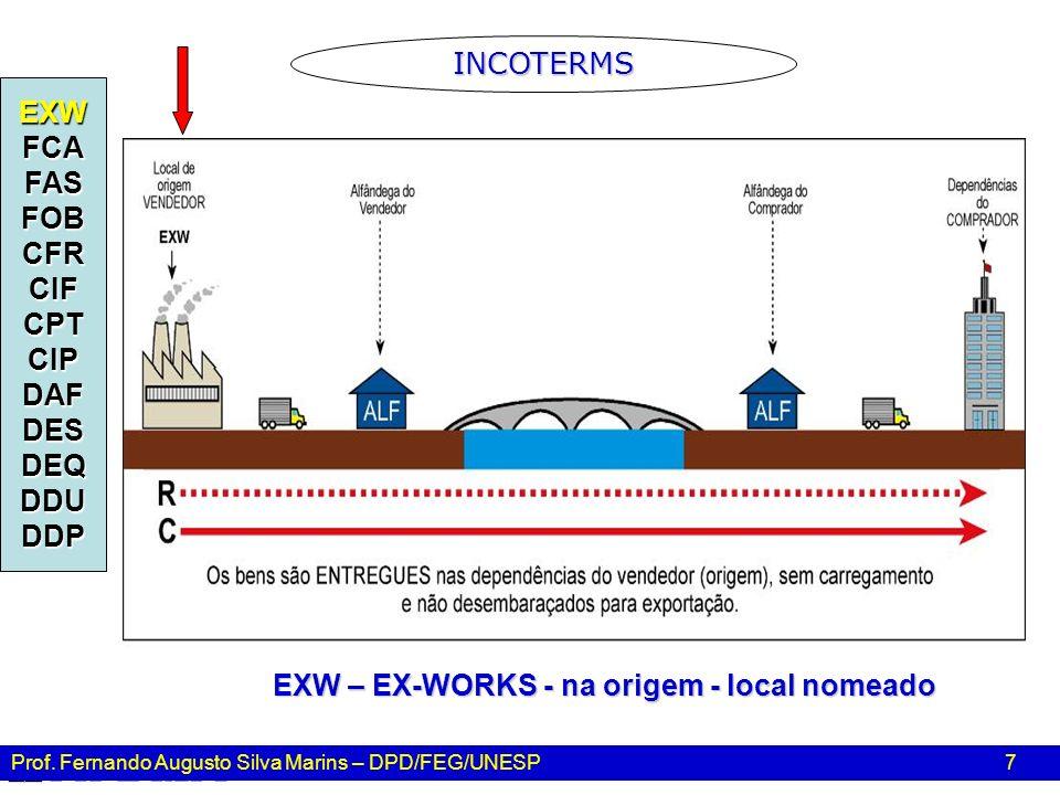 EXW – EX-WORKS - na origem - local nomeado